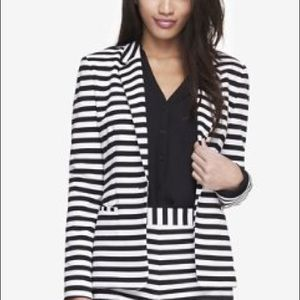 Black and white striped Express blazer